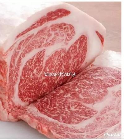 Japanese Wagyu Beef Ribeye A5 A4 Steak 1cm 200gr